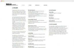 page de contenu du site internet Metropolis Architectes Associés