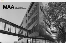 home page du site Metropolis Architectes Associés