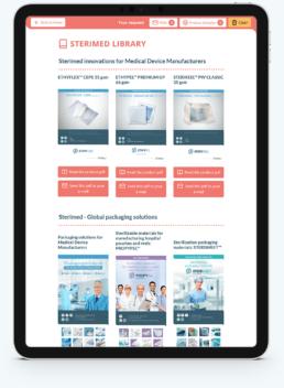 Application web plaquettes commerciales