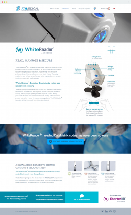 athmedical.com page produit WhiteReader site internet